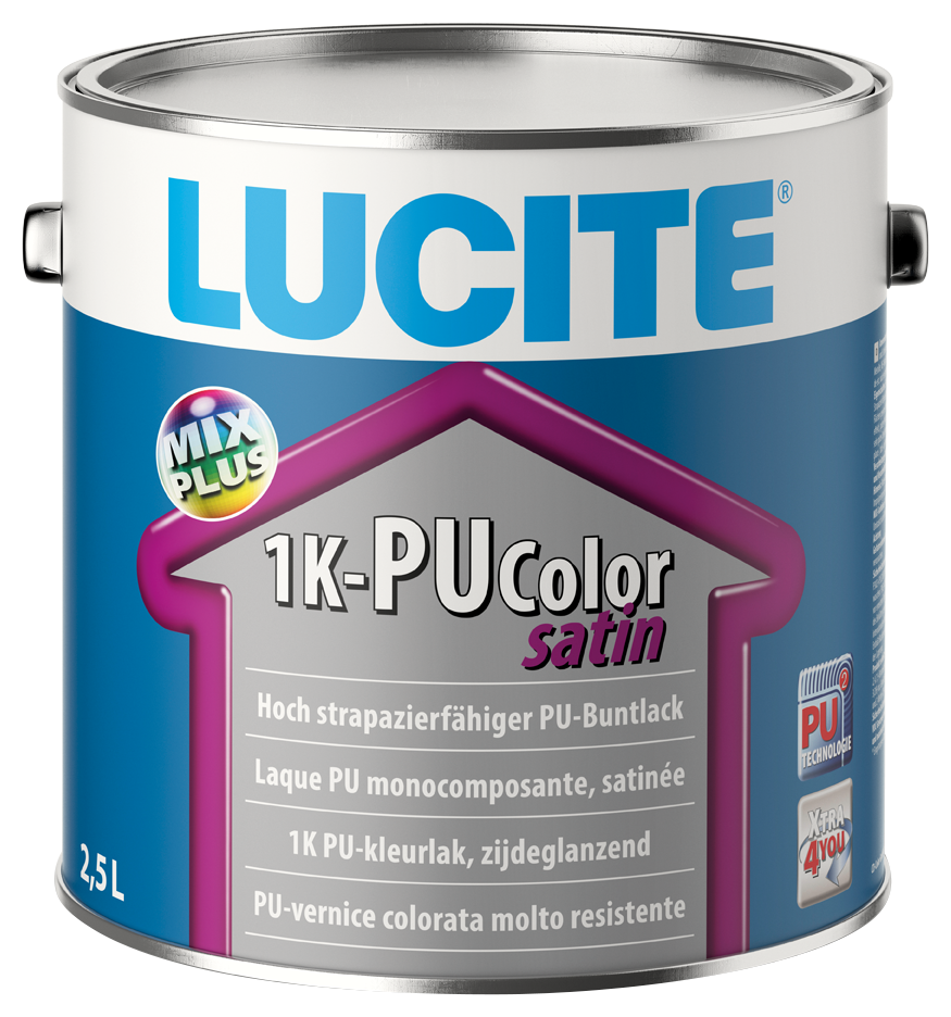 Lucite 1K-PU COLOR SATIN MIX  0 2.5L